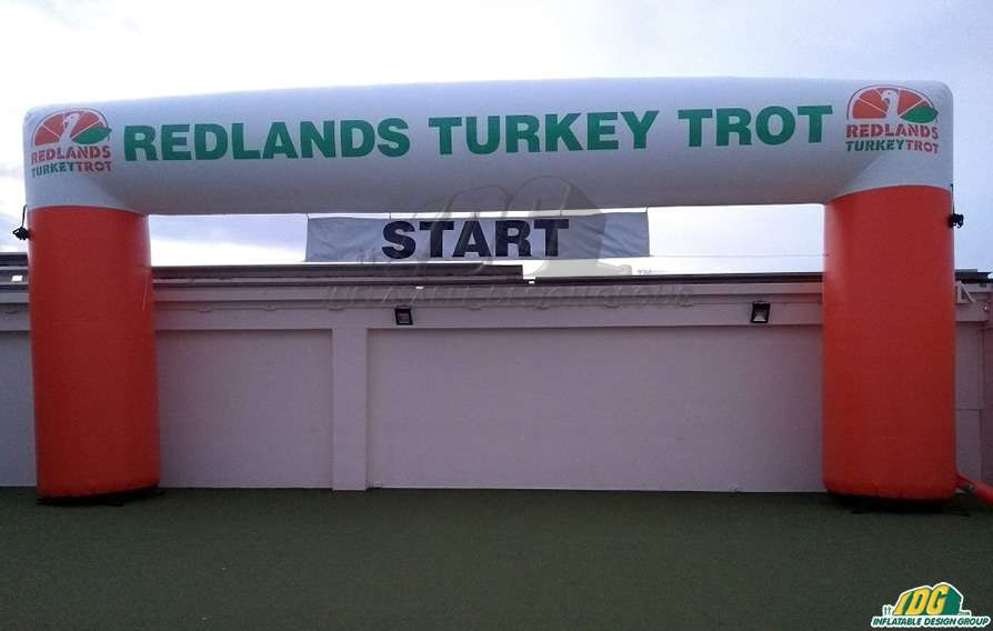 Redlands Turkey Trot Inflatable Arch