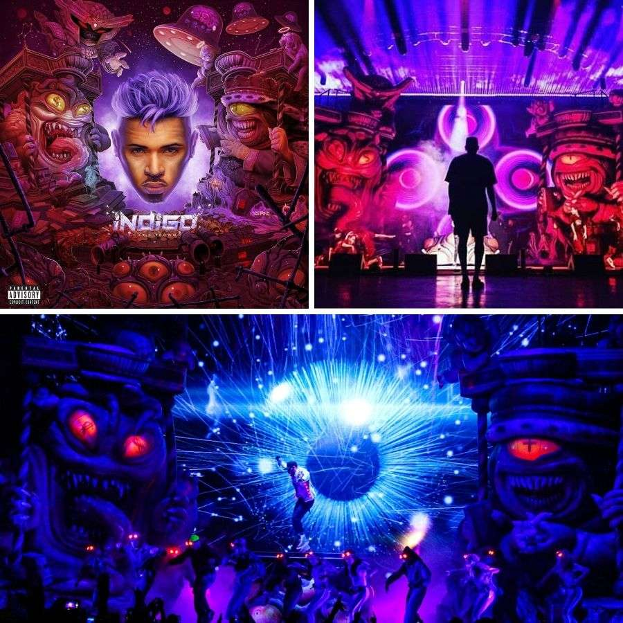 Custom entertainment inflatables for Chris Brown's Indigoat tour